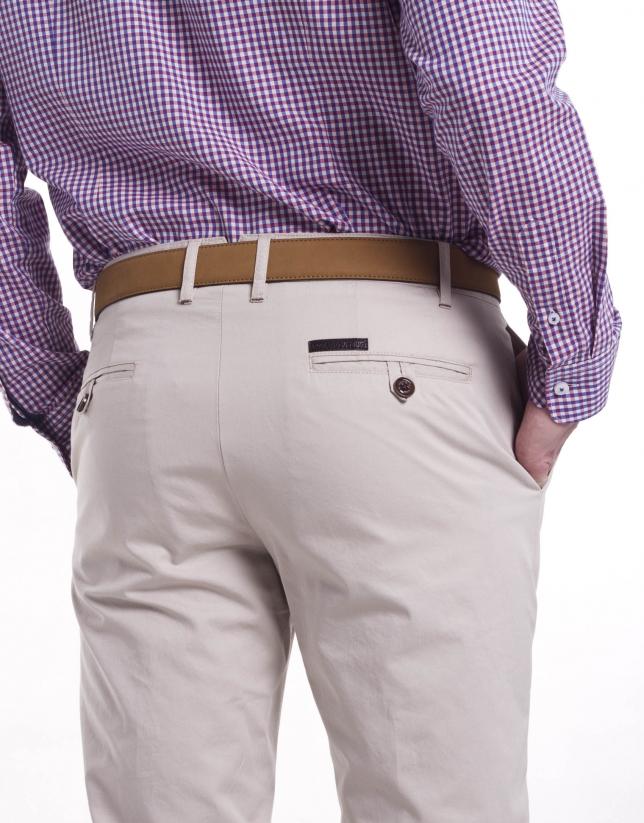 Casual herringbone pants