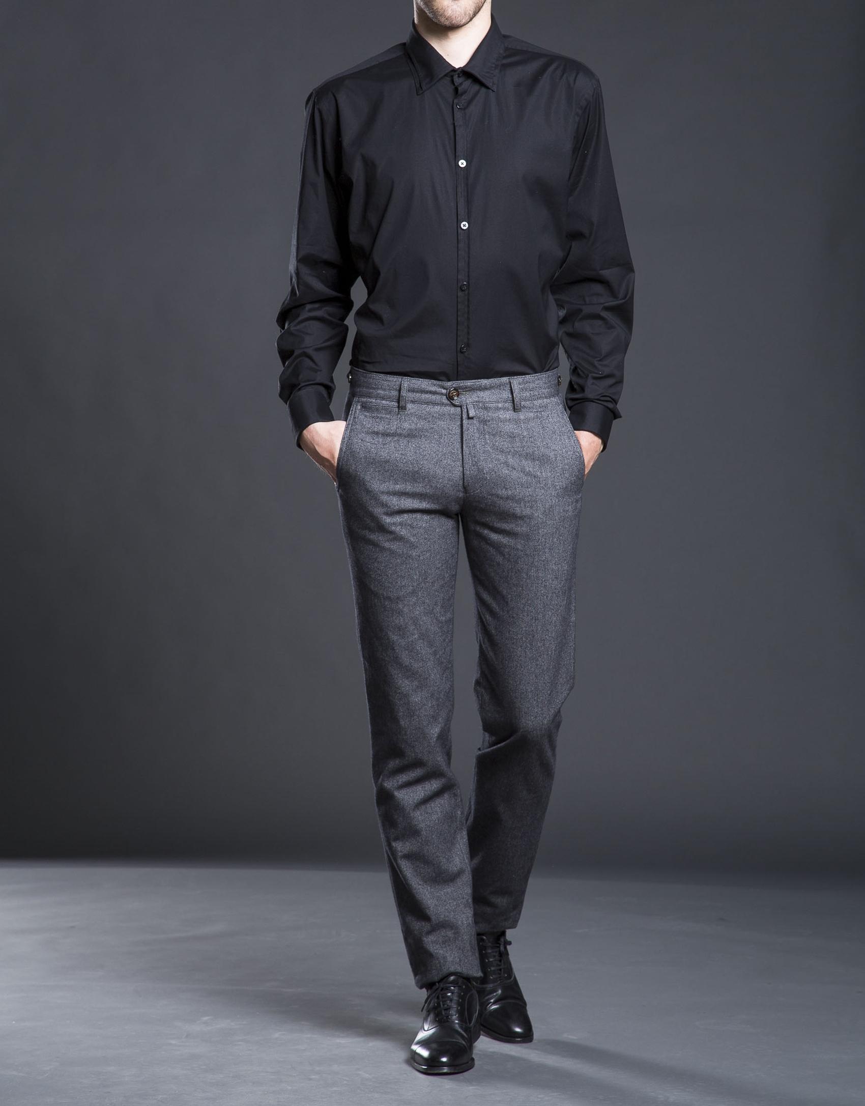 Plain black dress shirt - Roberto Verino