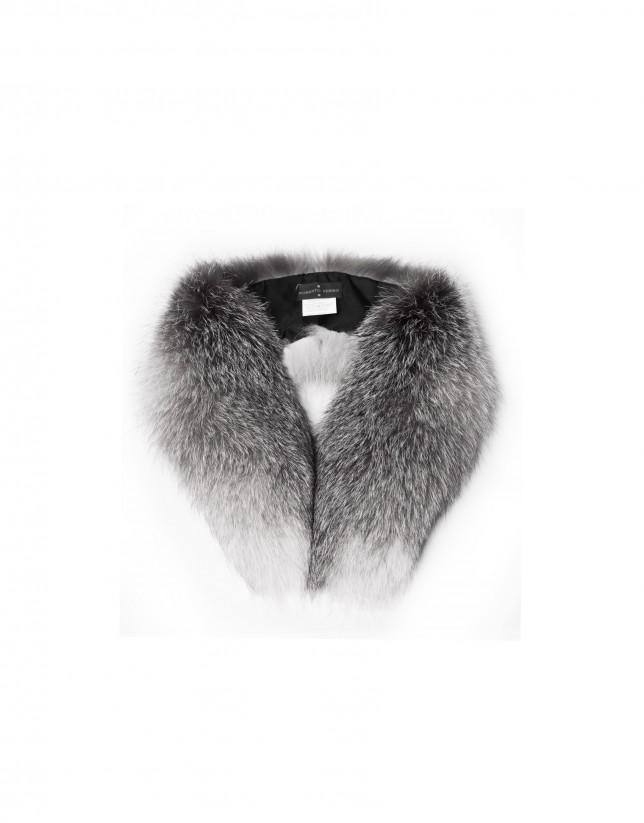 Grey fox collar.