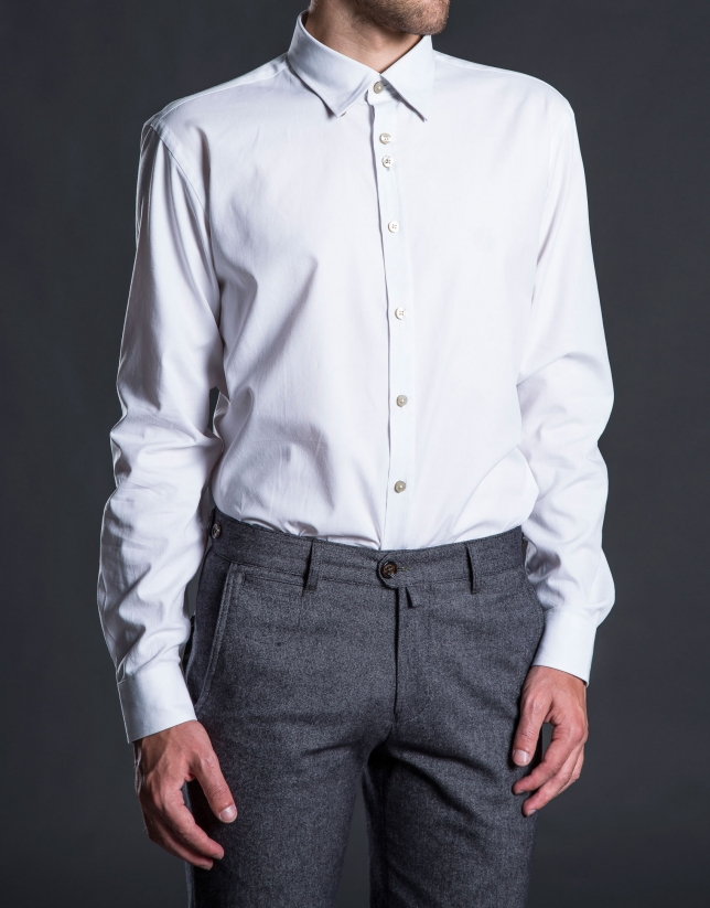 White Oxford sports shirt