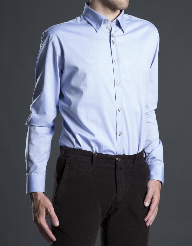 Blue Oxford sports shirt