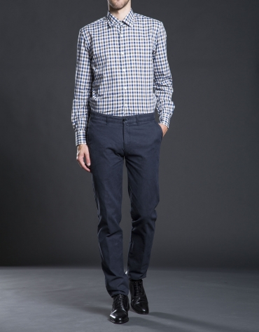Taupe checked sports shirt