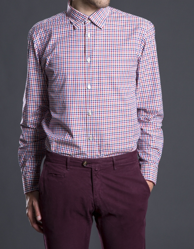 Multi-color checked sports shirt