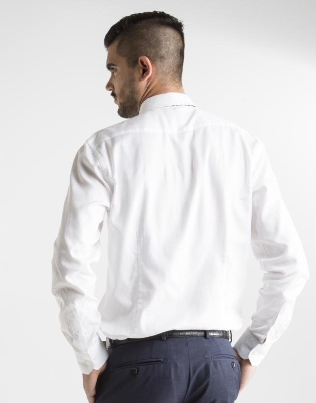 White microprint dress shirt