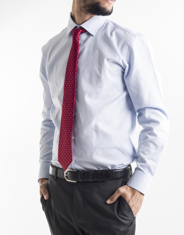 Chemise costume bleue et blanche homme roberto verino - Chemise costume homme ...