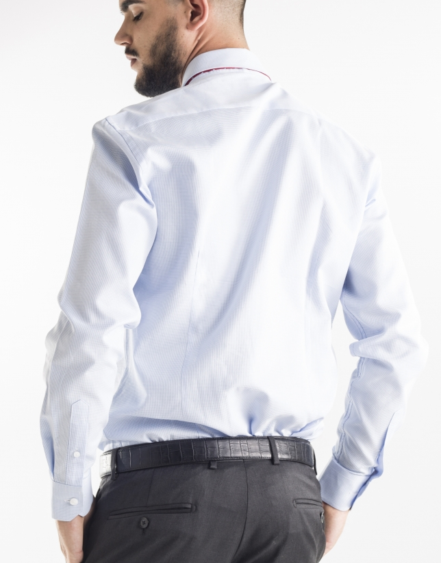 Blue and white dress shirt