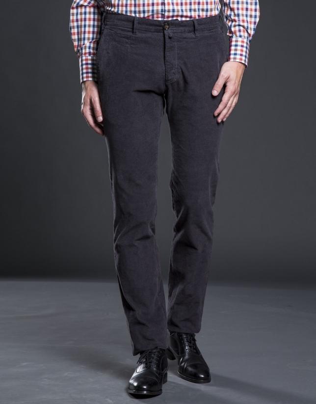 Pantalón sport pana gris