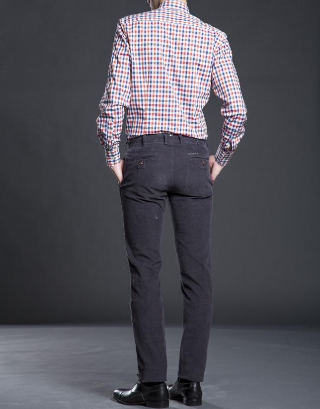 Grey corduroy pants