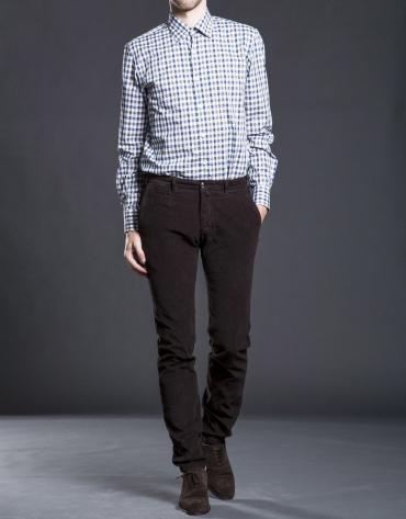 Pantalón sport pana marrón