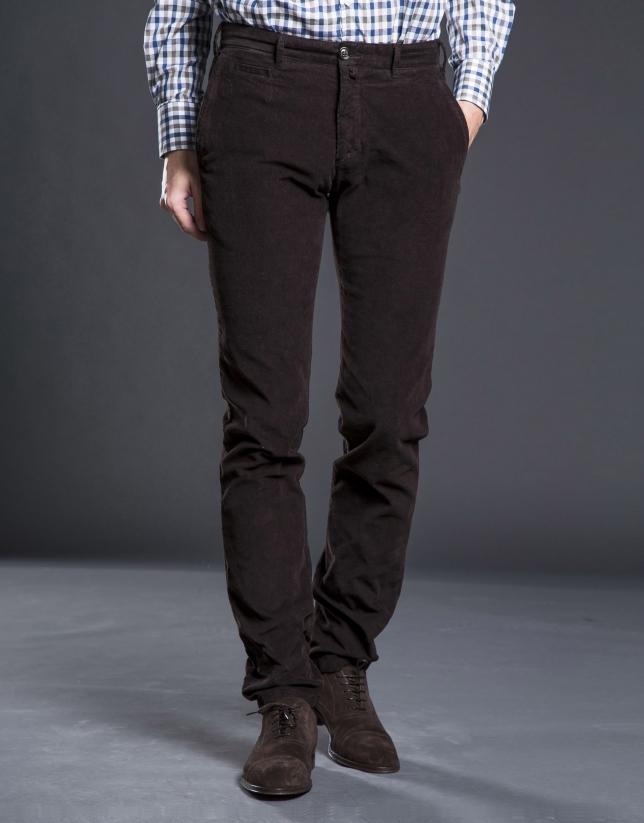Pantalon ville velours gris