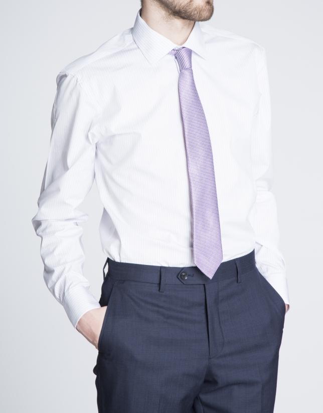 Camisa malva vestir rayas