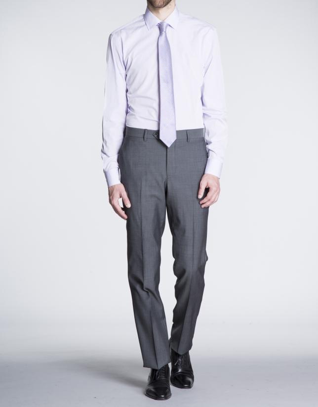 Camisa gris vestir lisa