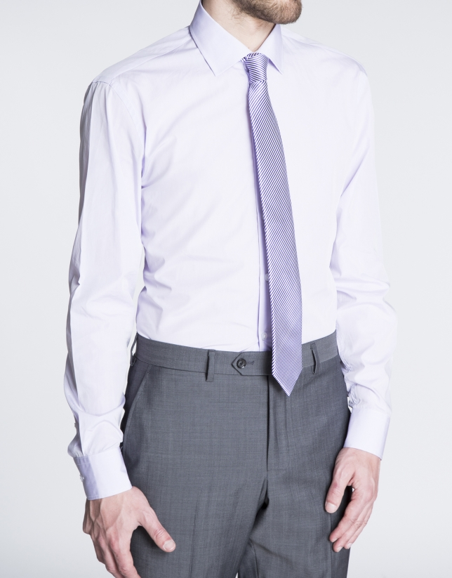 Plain grey dress shirt