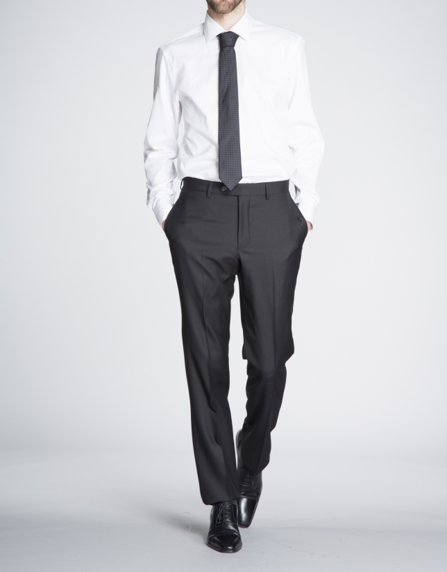 Chemise costume Oxford blanche
