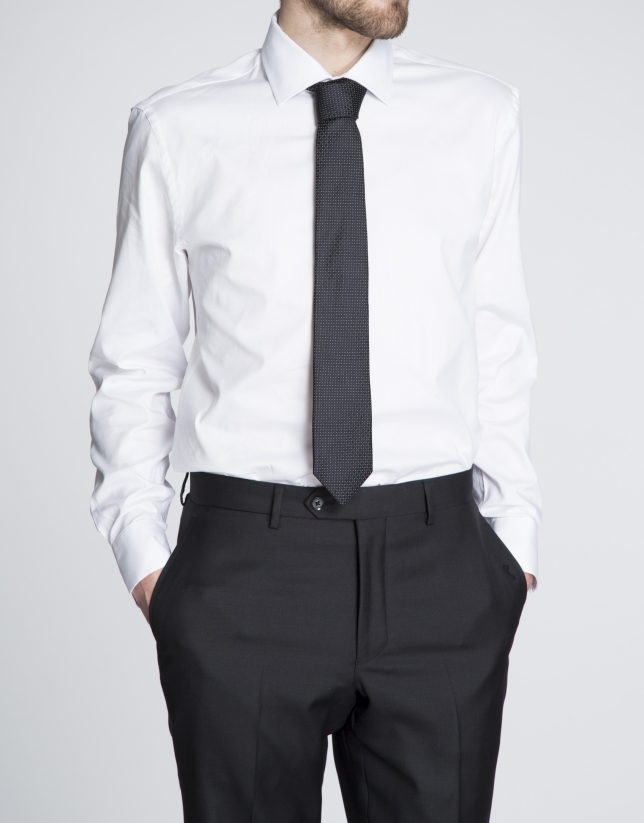 Chemise costume Oxford blanche