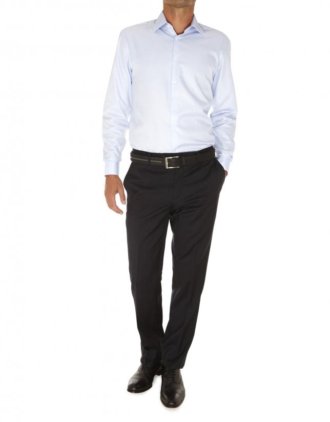 Microprint dressy shirt