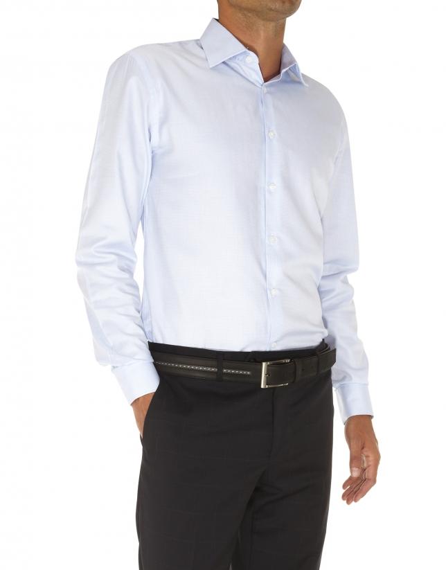 camisa vestir microdibujo