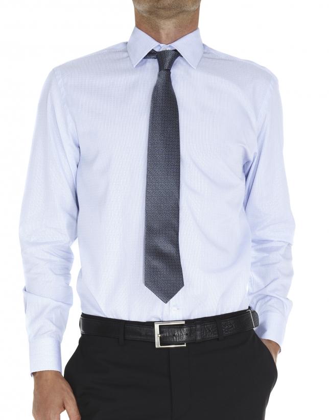 Chemise costume jacquard à rayures