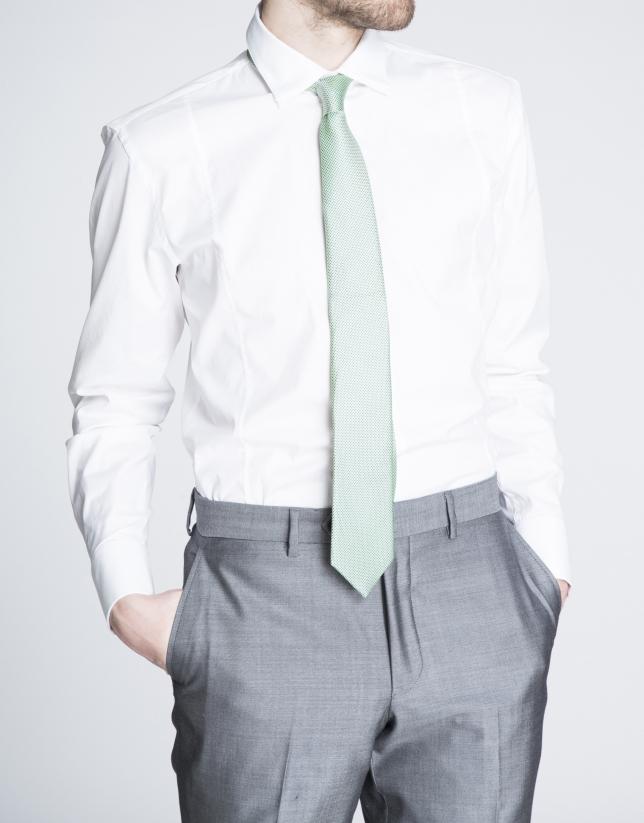 Camisa blanca vestir lisa