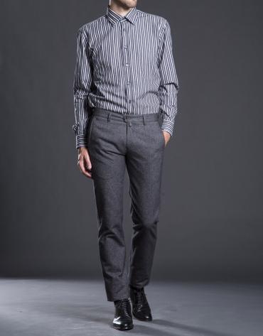 Pantalón sport microdibujo gris