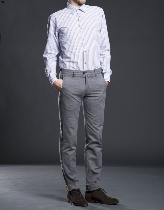 Pantalón sport espiguilla gris