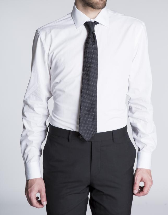 Camisa blanca vestir rayas