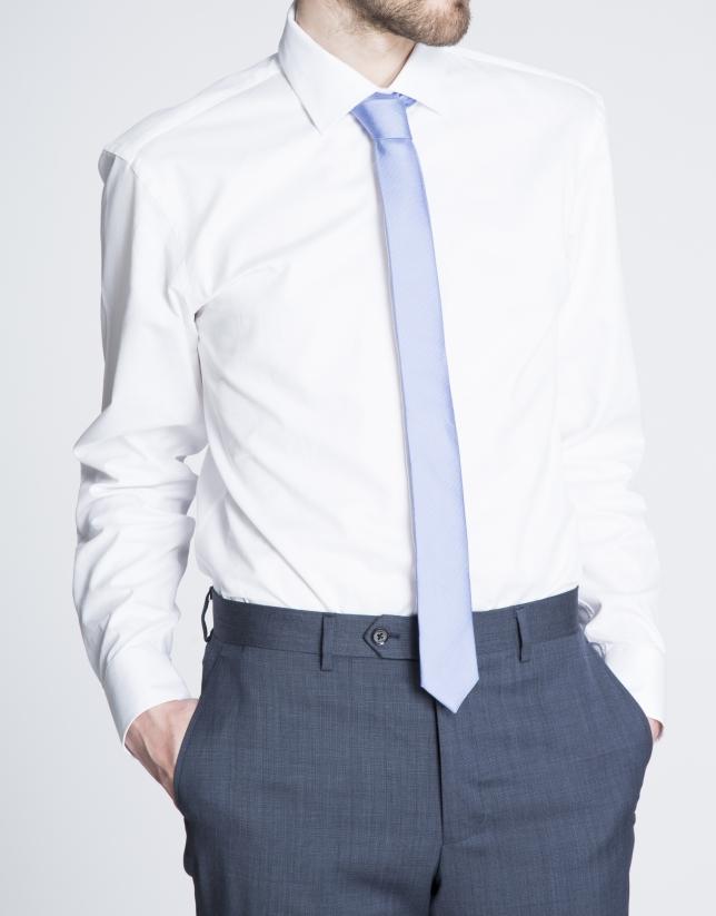 Camisa blanca vestir microdibujo