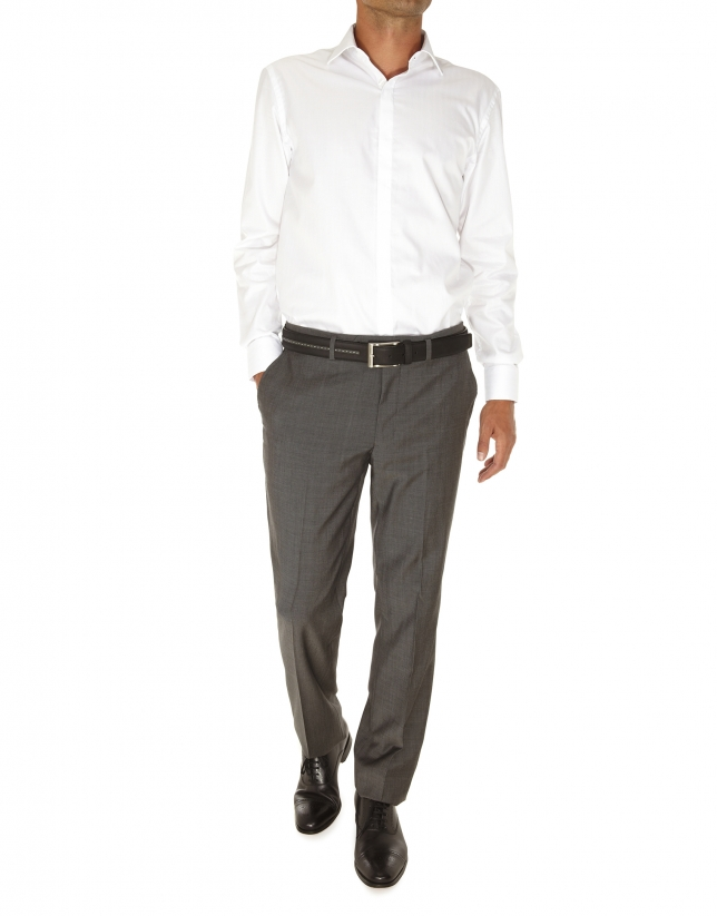 Herringbone dressy shirt