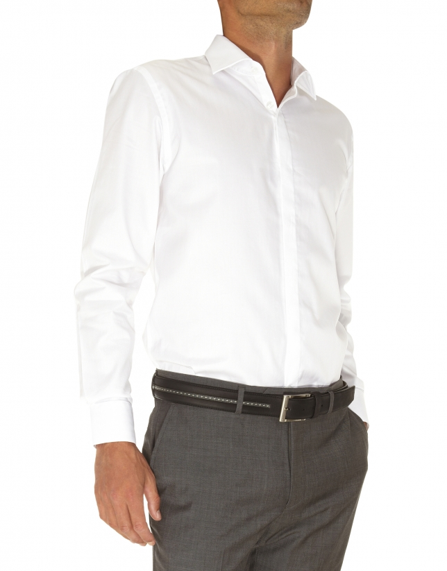 Chemise costume à chevrons
