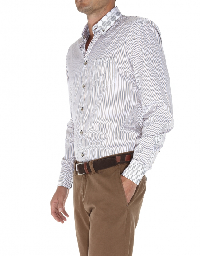 Striped sport shirt