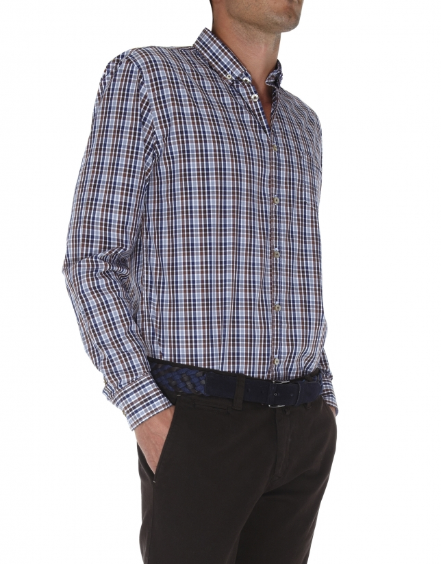 Checked sport shirt
