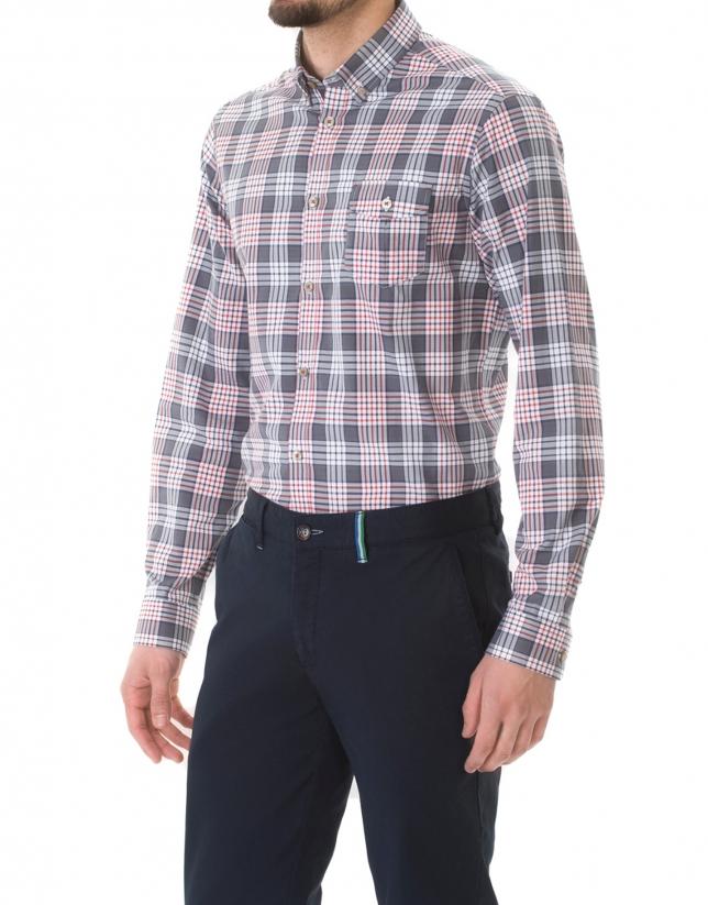 Camisa sport cuadro grande
