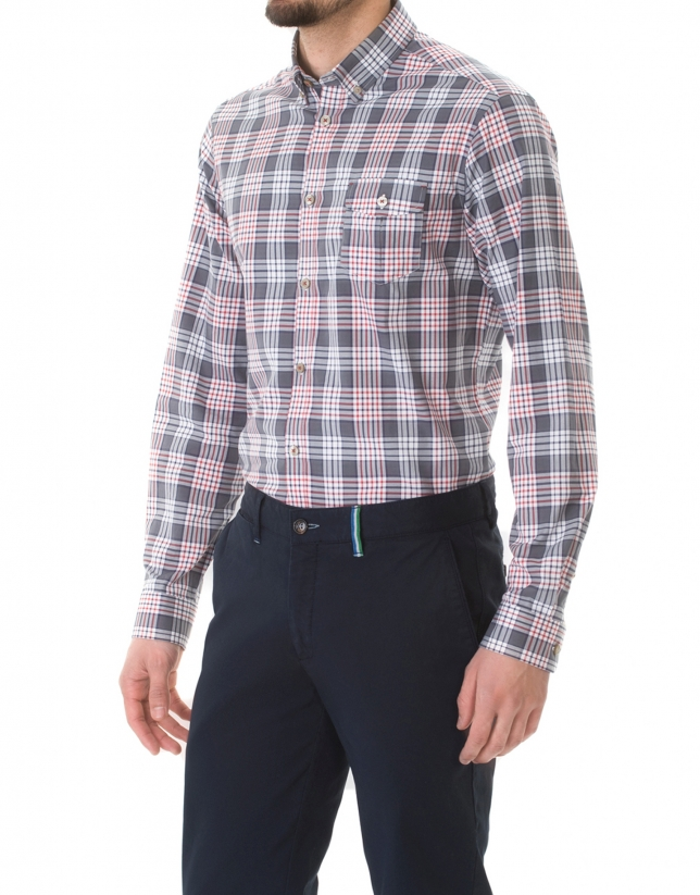 Large Checked sport shirt