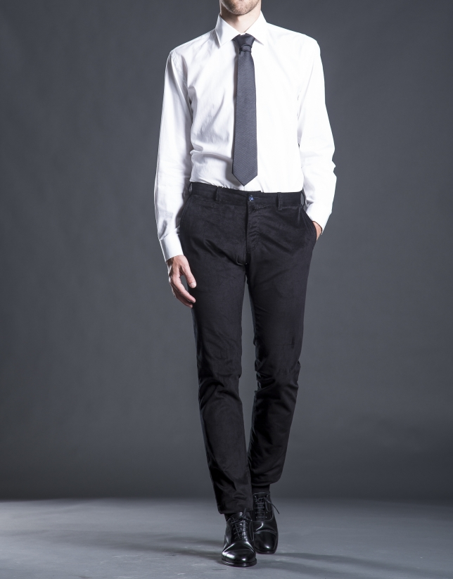 Pantalón pana aterciopelada negro