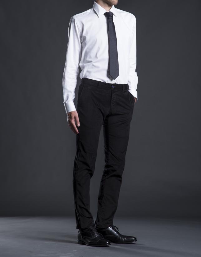 Black velveteen pants