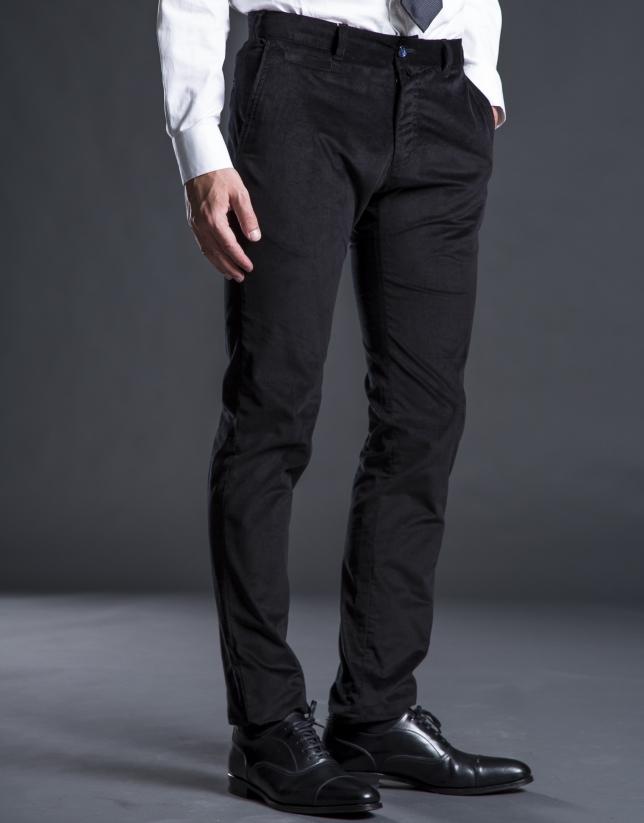 Pantalon velours noir