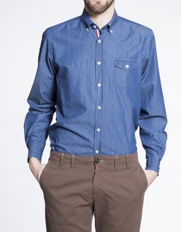 Chemise ville bleue en jean