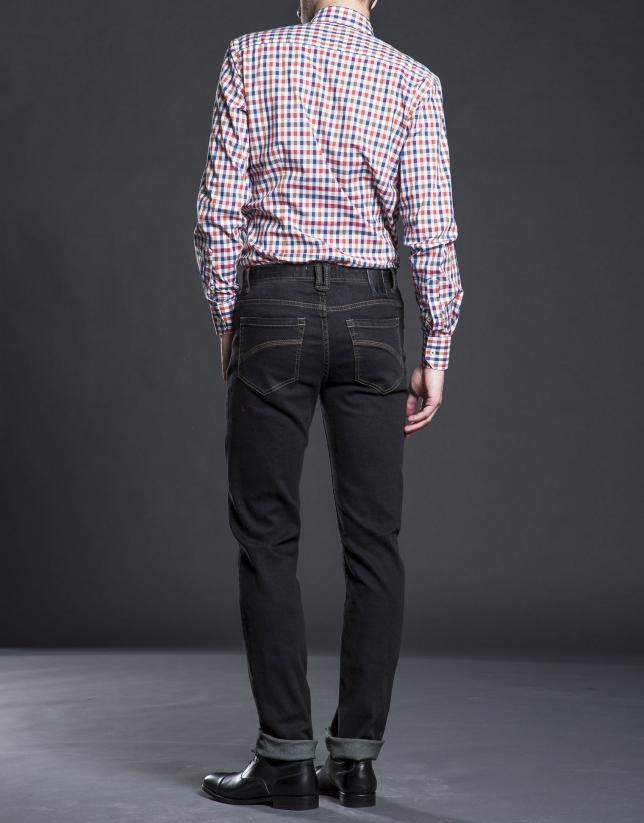 Pantalon jean ajusté gris