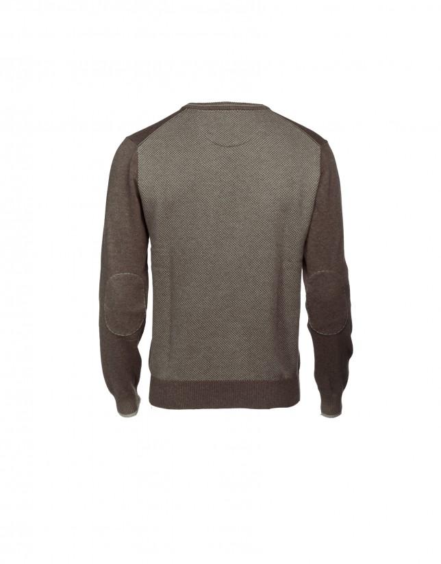 Jersey  lana y cashmere de  marrón