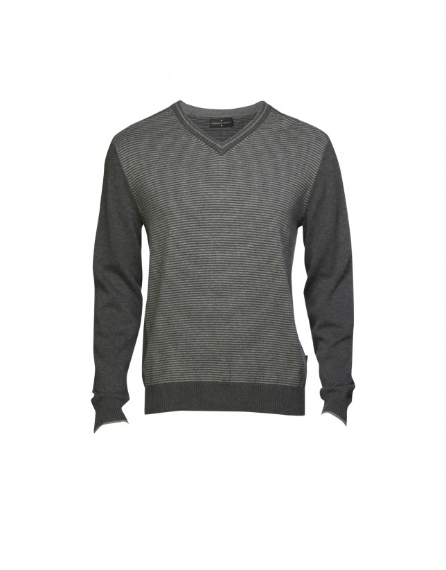 Grey wool/cashmere pullover
