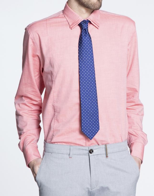 Coral twill sports shirt