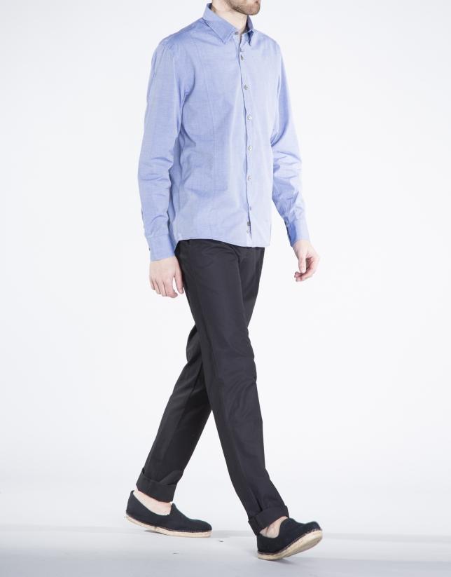 Camisa azul sport sarga