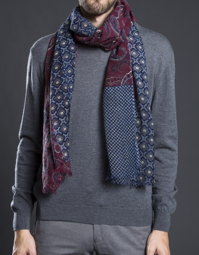 Multi-colored print scarf