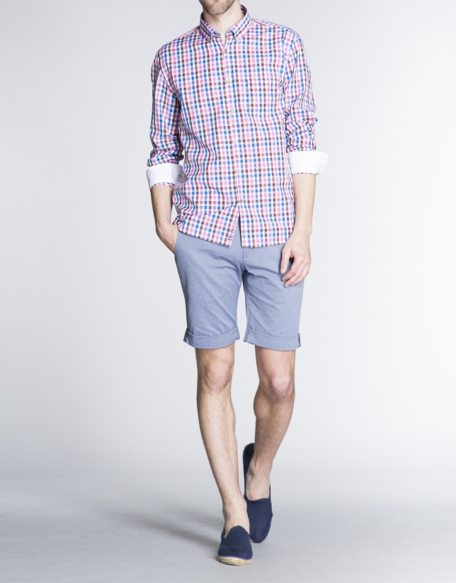 Colored checked sports shirt