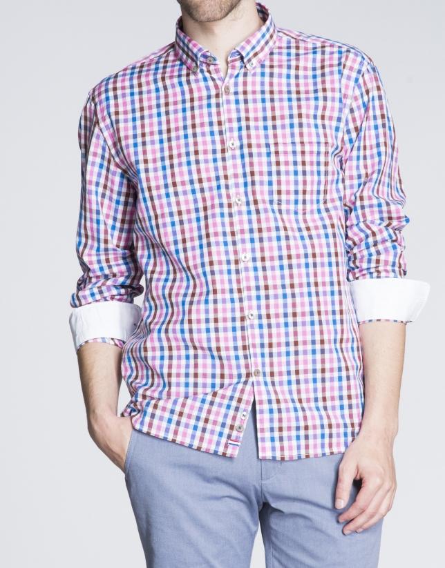 Camisa multicolor sport cuadros