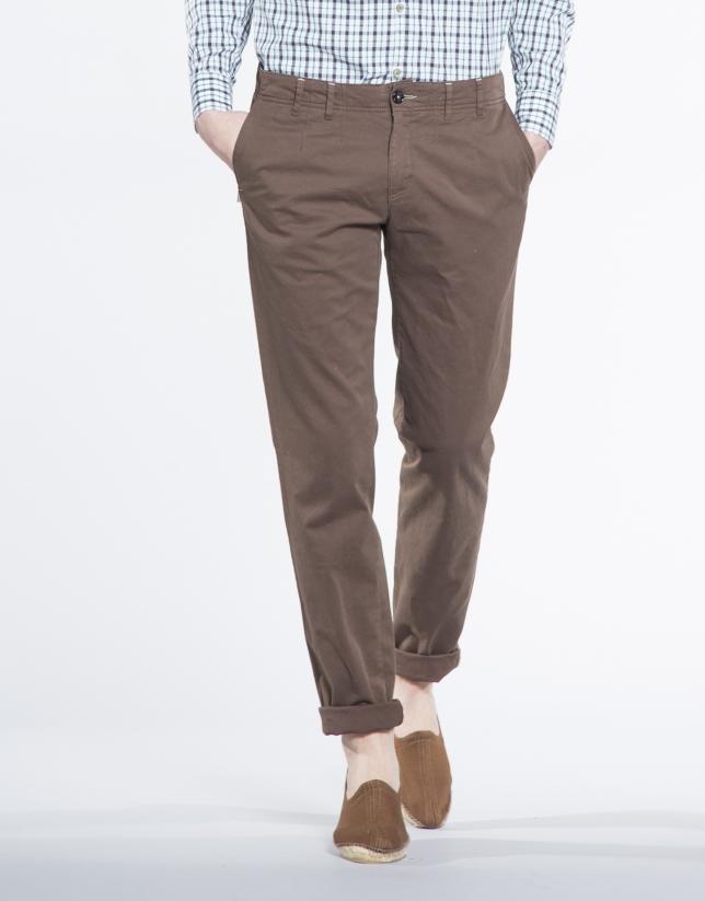 Pantalon ville sergé naturel