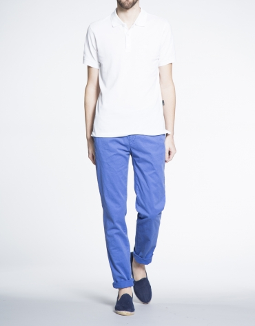 Blue twill sports pants
