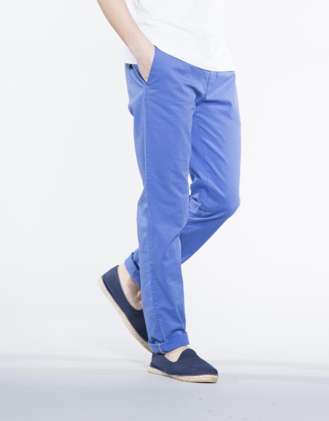 Pantalon ville sergé bleu