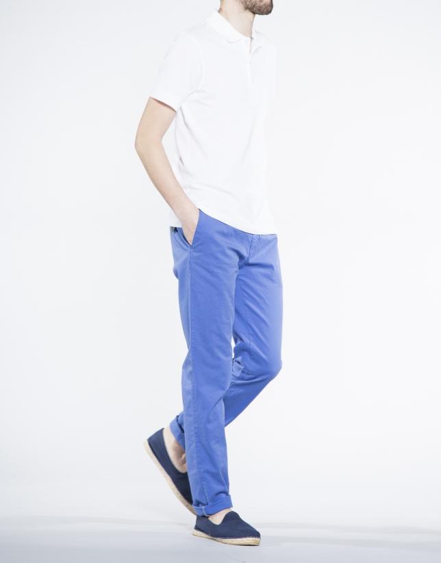 Pantalón azul sport sarga