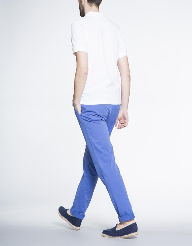 Blue twill sports pants